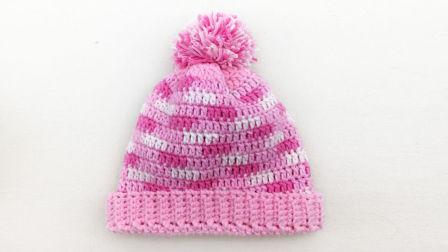 【小脚丫】段染格子帽宝宝毛线帽子5股牛奶棉线宝宝帽子钩毛线帽子婴儿帽子详细步骤图解视频