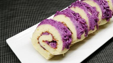 绚丽的戚风蛋糕卷, 不用色素, 纯天然食物一样能调出靓丽的色彩