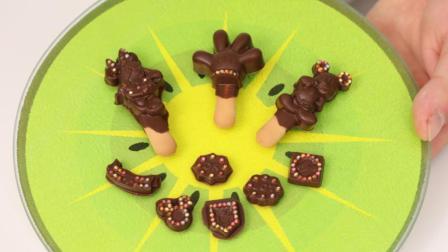 米奇妙妙屋日本食玩 小佟哥哥手工米老鼠巧克力分享