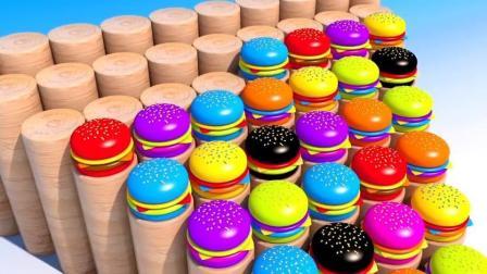 制作汉堡和蛋糕玩具视频 彩泥 冰淇淋 制作冰淇淋的玩具模具视频97