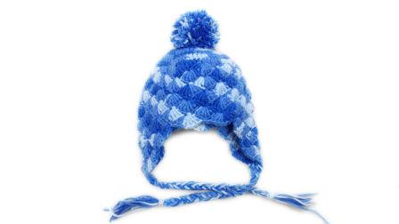【小脚丫】菠萝花贝壳花帽子宝宝毛线帽子5股牛奶棉线宝宝帽子钩毛线帽子婴儿帽子织法教程