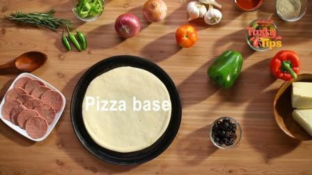 意式牛肉香肠比萨, 爱放什么就放什么, 怎么做都好吃!