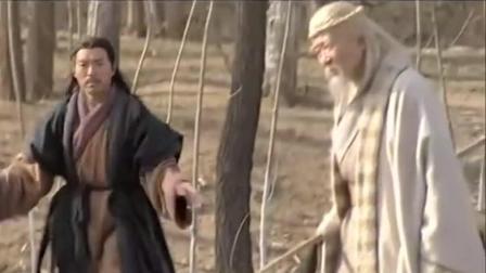 张良巧遇黄石公, 得太公兵法, 低点言谢时, 高人已不见仙踪