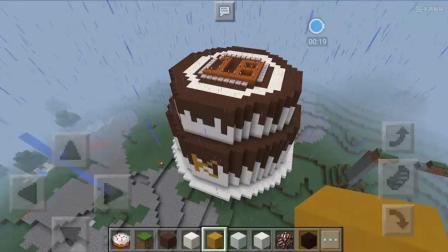 我的世界雕塑欣赏 这大概是一个18岁的生日蛋糕吧