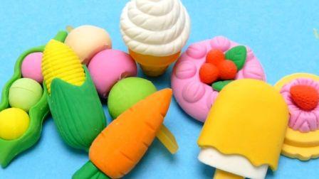 展示各种蔬菜水果小蛋糕橡胶玩具