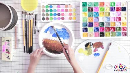 绝密! 包你三分钟玩转水粉画 水粉中花的画法及步骤详解视频