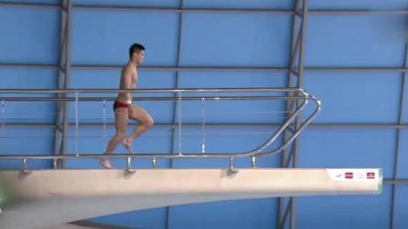 中国小伙一脸淡定选择最高难度, 逆天跳水让外国解说都疯狂了, 到底转了几圈!