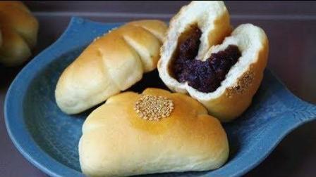 美食制作 枣泥熊爪包(面包), 没想到做法如此简单, 还这么好吃