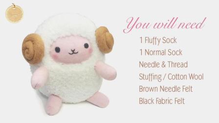 生活创意: DIY可爱的绵羊毛绒玩具, 简直萌翻了, 孩子太喜欢了
