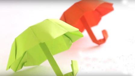 折一个漂亮的雨伞! 折纸大全图解! 创意diy手工折纸简单又好看