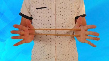 筷子瞬间消失, 这样的障眼法看100遍也看不出破绽, 揭秘后真简单