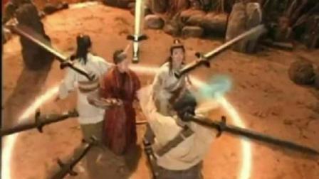 《封神榜》陈浩民版最喜欢看殷十娘那招, 一句出鞘满剑飞的画面