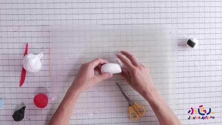 儿童彩泥创意制作 DIY超轻粘土制作宇航员 超轻粘土简单可爱作品