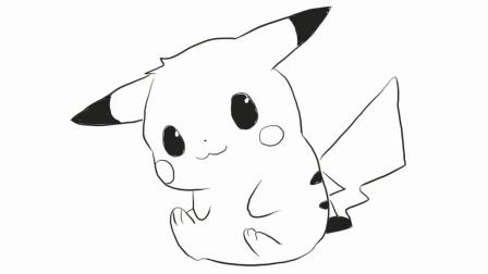 萌萌的宠物小精灵皮卡丘幼儿亲子简笔画 宝宝轻松学画画