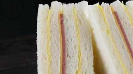 口感好到不敢相信是三明治, 用面包卷起芝士、培根就行了!