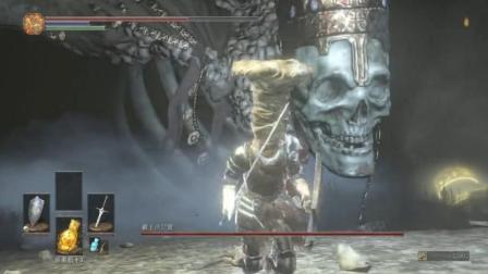 黑暗之魂3: 骷髅王一巴掌可以把楚河拍死, 却让他从手缝逃走