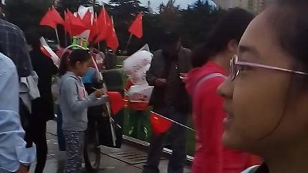2017十一国庆节大连人民广场升旗仪式记录