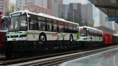 我的火车模型——ND5牵引货列马鞍山站三道高速通过