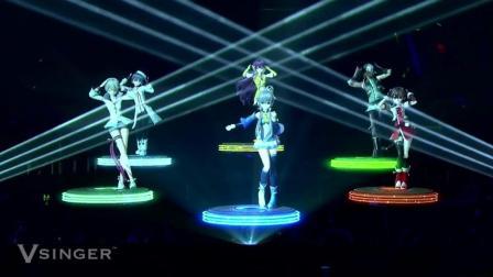 虚拟歌姬洛天依、乐正绫、言和、初音未来演唱会《普通DISCO》