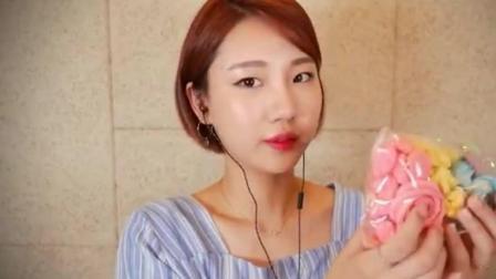 ASMR~soy妹子吃彩虹霜糖饼干 音质超好 耳机福利