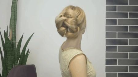 编发教学: 花式法式盘发, 特显发量丰厚