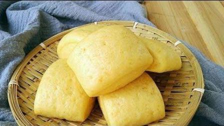 美食制作营养粗粮的【玉米馒头】, 非常好吃, 口感也很松软。