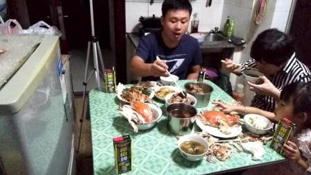 吃播海鲜螃蟹 乌鸡 小龙虾