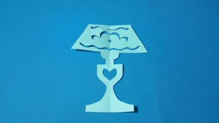 剪纸小课堂571: 剪纸台灯2 儿童剪纸教程大全 折纸王子 亲子游戏