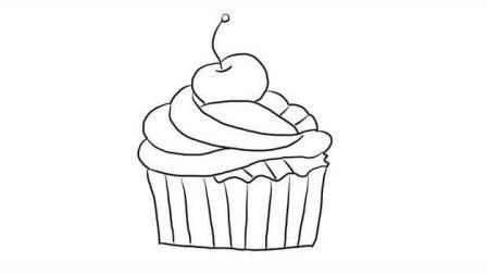 小纸杯蛋糕育儿亲子简笔画 宝宝轻松学画画