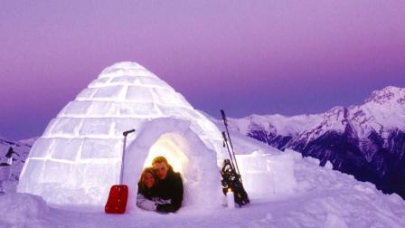 童话里才有的冰雪世界, 爱斯基摩人里外相差60°的冰屋