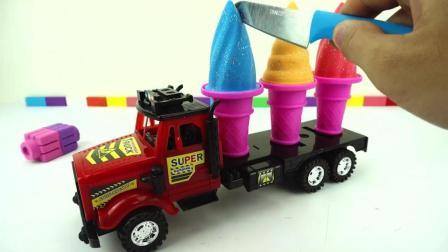 魔力太空沙DIY彩虹冰淇淋卡车, 儿童色彩早教
