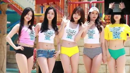 5位热裤女孩, 5种不同颜色, 你喜欢哪个?