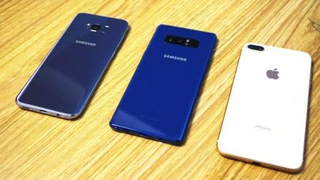 iPhone 8 Plus、三星S8+及三星Note8充电和续航测试