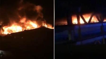 火龙果传媒 第一季 义乌国际商贸城一厢式货车起火
