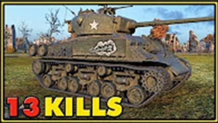 坦克世界1 VS 9小车也疯狂迅雷7 牛人实战 -13 精彩视频