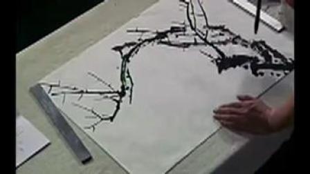 风景水彩画教程视频 水彩画完全自学教程 水粉画 梅花