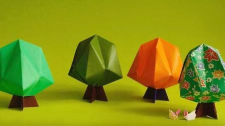 教你折一颗树! 折纸大全图解简单又漂亮的纸艺! 创意diy作品