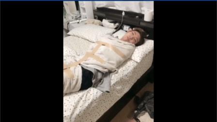 日本女友不肯起床, 被五花大绑困成肉粽子