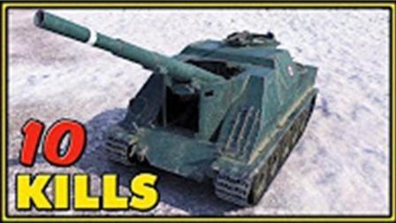 坦克世界 火炮155  10杀 大神精彩视频