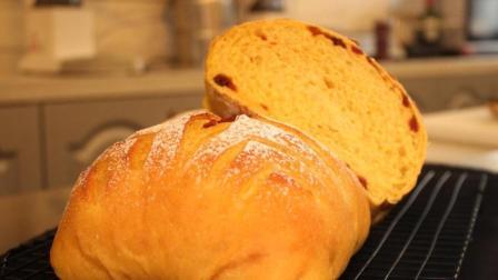 美食吃货看过来, 网红甜品南瓜面包制作教程, 回弹力十足, 面包店里做的都没这么好