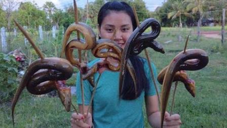 烤鳗鱼, 美女原始手工碳烤, 味道100个赞!