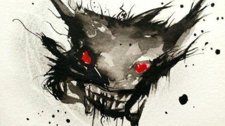 水彩恶魔邪恶创意画视频过程, 教您如何画恶魔手绘图片