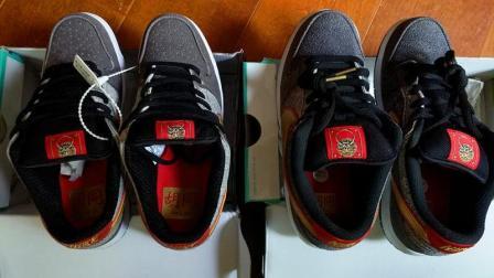 NIKE鞋真假对比