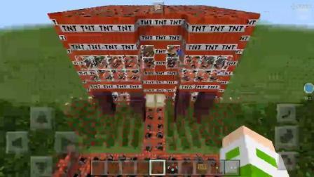 我的世界猛男用TNT建房子 然而我想在他家点火