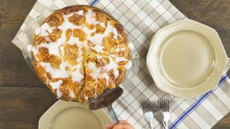 超美味甜品蛋糕制作: 大人小孩都爱吃 苹果葡萄干肉桂面包饼