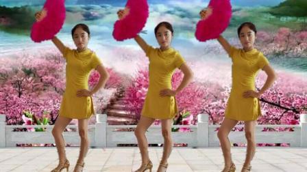 菲菲广场舞《舞女泪》旗袍扇子舞