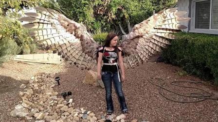 """女子自制""""人造翅膀""""想要上天, 雷震子是你吗?"""