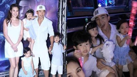 刘畊宏带全家看周杰伦演唱会 网友: 基因太强大了简直三个小泡芙