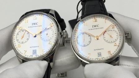 真假评测:万国葡萄牙IW500114腕表 ZF厂V2版本对比正品-三维复刻