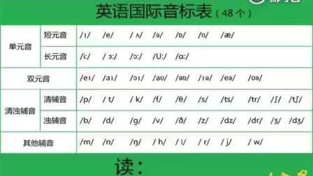 48个音标示范读音